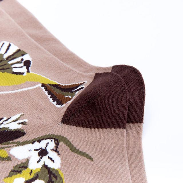Wild Goose Butterfly Flowers Parrot Birds Hummingbird Premium Men Women Socks Happy Short Male Cotton Pop Crazy Female Socks