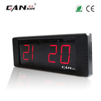 [Ganxin] 1 inch 4 digits led table clock red modern alarm clock countdown timer display