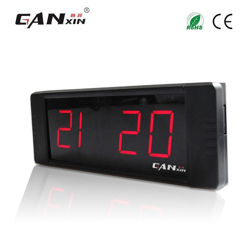 [Ganxin] 1 pouce 4 chiffres led horloge de table moderne rouge alarme horloge compte à rebours affichage