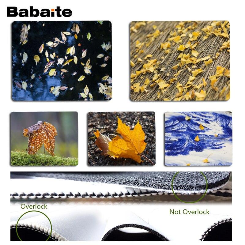 Babaite Нескользящие PC ранней зимы листья геймер играть коврики коврик Размеры для 18x22 см 25x29 см резиновая для мышей