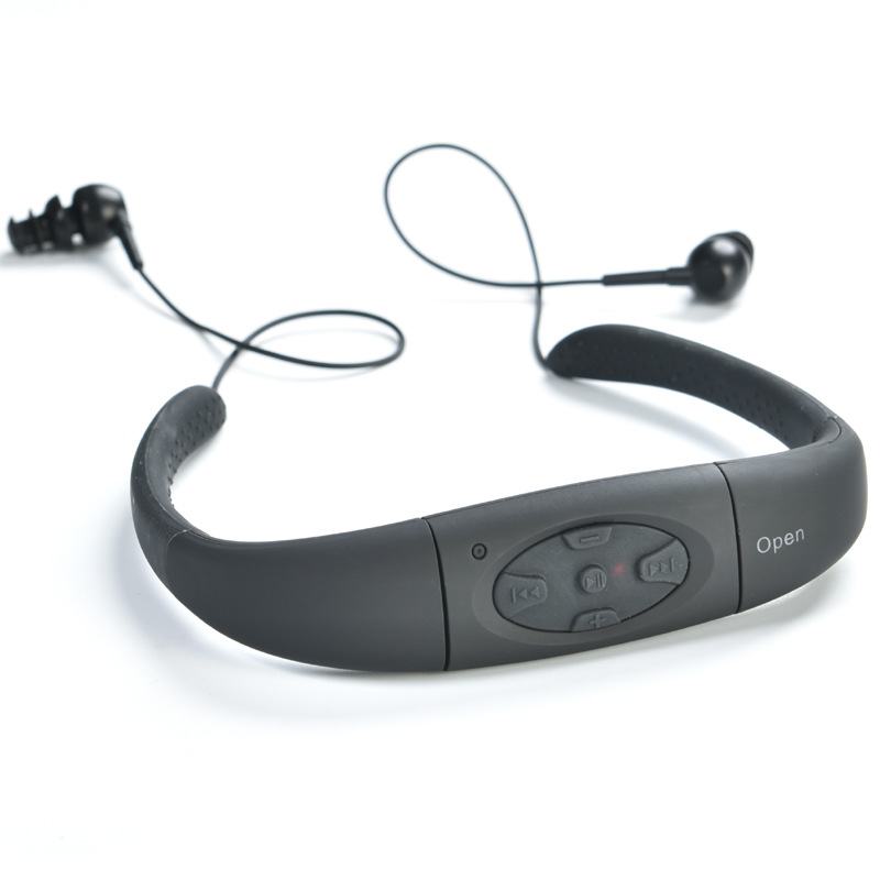 SUNBENBO IPX8 Waterproof 4GB Sports MP3 Neckband Stereo MP3 Player Earphone Music Player with FM Radio