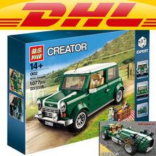 Technic Yile 002 MINI Cooper Klocki 10242 lepin cegły 21002 figurka creator samochodów pojazdu zabawki dla dzieci