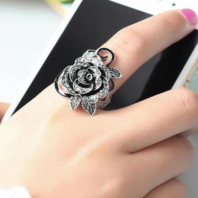 brixini.com - The Black Rose Gothic Ring