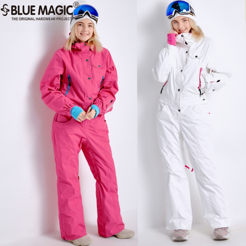 Blue magic new winter snowboard kombez ski jacket and pant ski suits females jumpsuit women snowboard waterproof overall RussiaBlue magic new winter snowboard kombez ski jacket and pant ski suits females jumpsuit women snowboard waterproof overall Russia