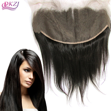 8A 13X6 Unprocessed Virgin Human Peruvian Lace Frontal Closure Ear To EarLace Frontal Straight with Baby Hair Free Shipping