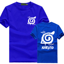 Naruto Wooden Leaves Ninja Village logo Printed Short Sleeve T Shirt