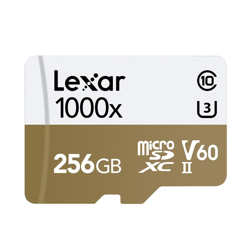 Original Lexar Micro SD Card 256GB TF Card V60 cartao de memoria U3 Professional car Flash Memory Card C10 For Sport Camcorder in Micro SD Cards from Computer Office