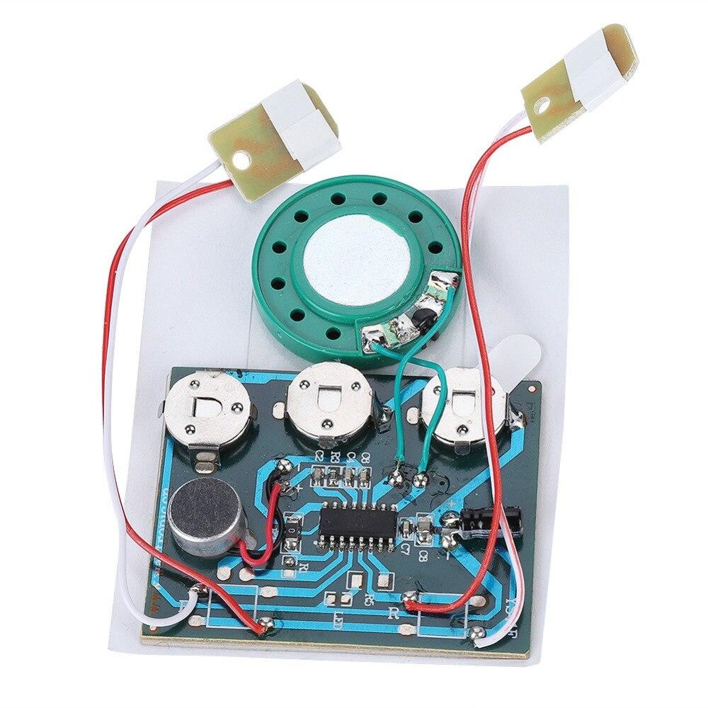 30 s Записываемых Музыка Голосовой Модуль Звуковой Чип 0.5 Вт с Батареей Кнопки Высокое Качество