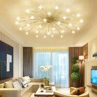 Европейские светильники потолочные Гостиная lamparas де techo кристалл светодиодный потолочный светильник контракт сладкий Star Спальня освещени