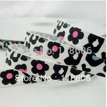 Wholesale 5/8″16mm White Leopard Craft DIY Printed Grosgrain Ribbon BOW