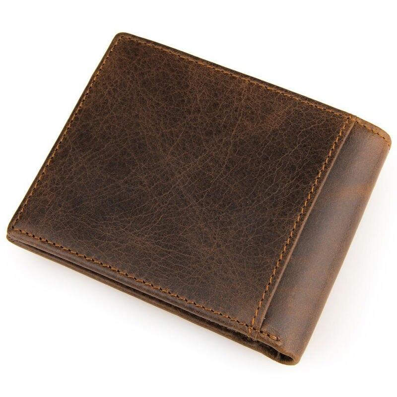 Fashion Leisure Cowhide wallet New Retro Crazy Horse Skin Purse Men Genuine leather wallet Card Holder new fashion wallet men wallet men retro