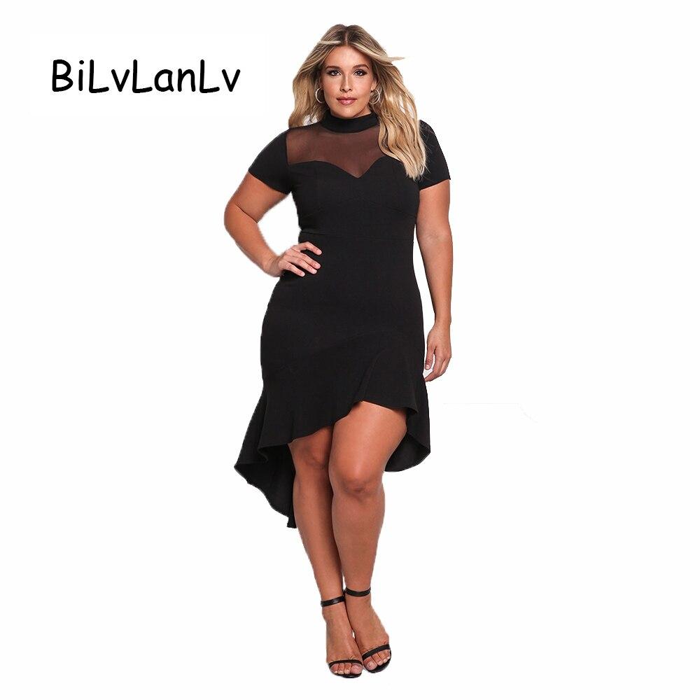 BiLvLanLv Summer Elegant Lady White Black Dress 2017 Sexy ...