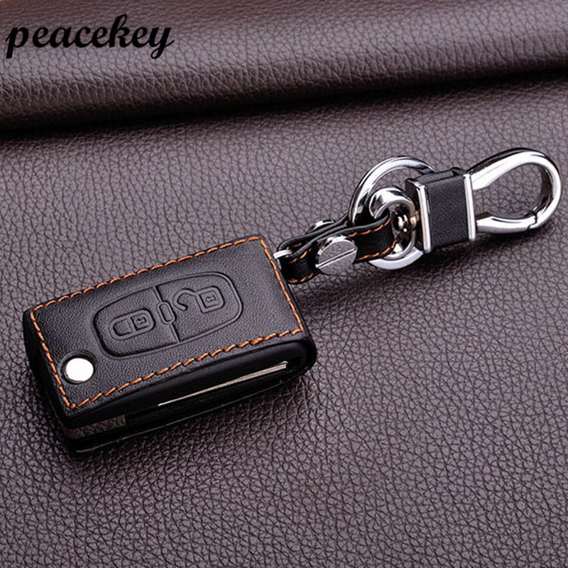 Peacekey 	leather keychain keyring for Peugeot 307 206 308 408 207 407 406 301 2008 3008 4008 key protector cover case sticker gt1544v turbo cartridge 753420 5005s 753420 5004s 207 307 407 1007 3008 5008 206 partner 1 6 hdi fap aaa turbocharger parts