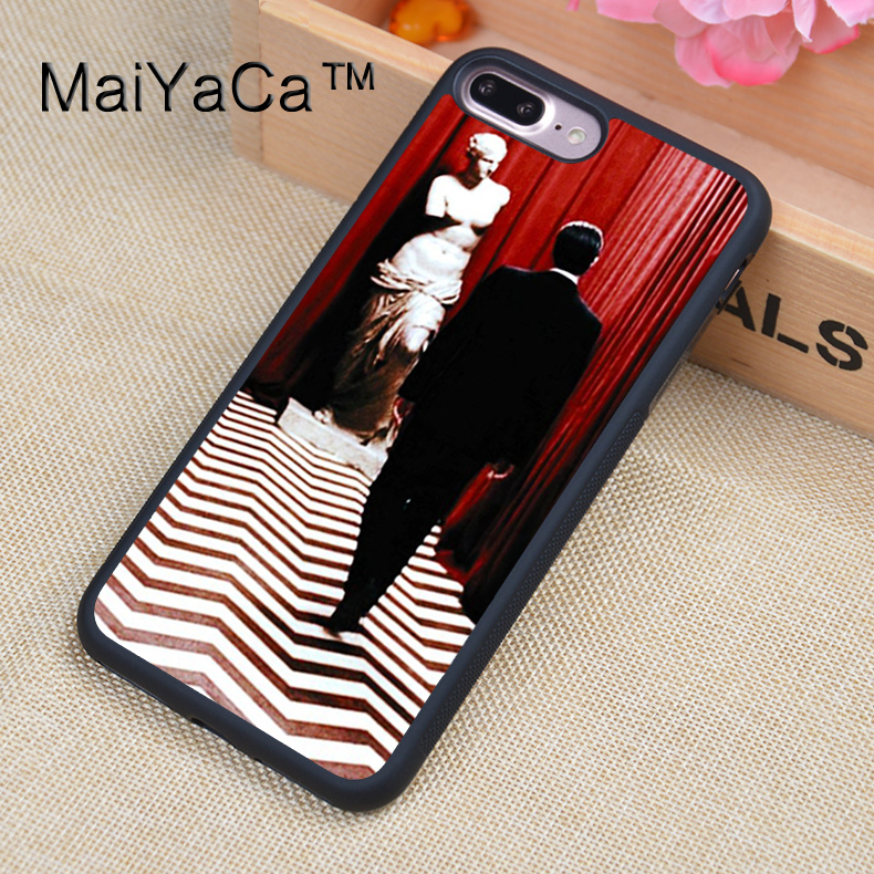 MaiYaCa Twin Peaks Printed Phone Case For iPhone 7Plus Soft TPU PC Back Cover For Apple iPhone 7 Plus Shell