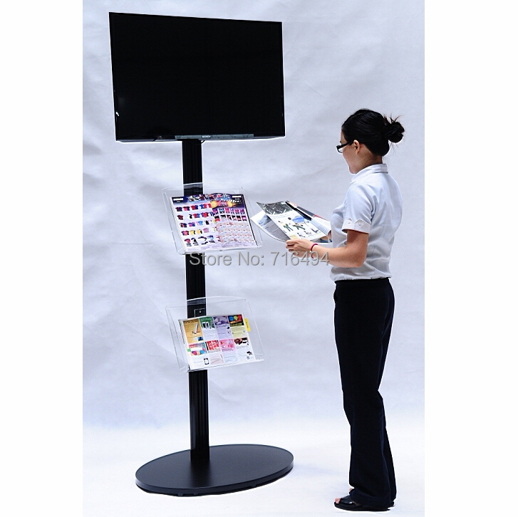 Exhibition Stand Extras : Tv floor stand fits quot to monitors makes your extra