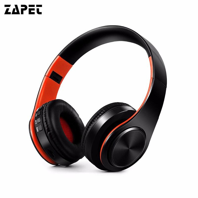 ZAPET Nouvelle Arrivée coloré stéréo Audio Mp3 Bluetooth Casque Sans Fil Pliable Casque Écouteur soutien SD carte avec Micro