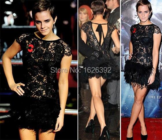 Black Lace Cocktail Dress Celebrity