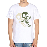 Harajuku Skull Elephant Letter TShirt Men's Animal Hipster Funny Tops Tees Off White T Shirt Men Cotton Casual Summer Clothes