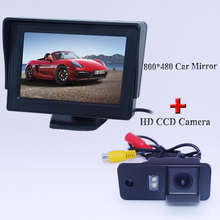 Универсальное Автомобильное Зеркало Заднего Вида Монитор с Цветной ЖК-Экран + для AUDI A6L автомобиль Отзыв Парк камеры Авто водонепроницаемый