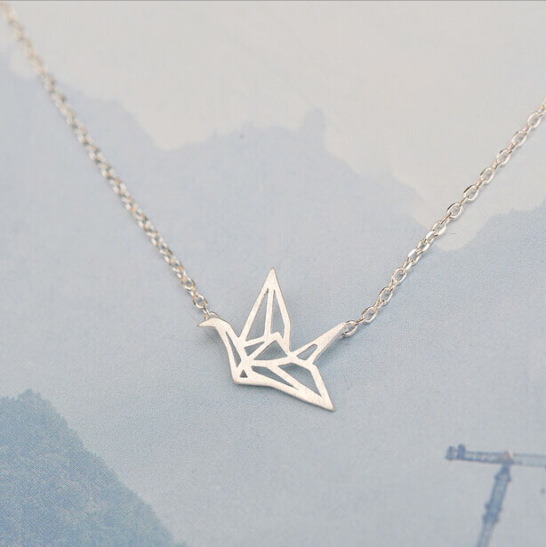 925 sterling silver refinement paper cranes short necklaces 925 sterling silver refinement paper cranes short necklaces pendants for women simple sterling silver jewelry aloadofball Gallery