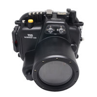 Mcoplus 40M Waterproof Underwater Camera Housing Case for Canon EOS 70D 18-135mm Lens