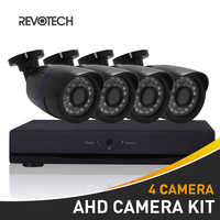 4CH 1080 p CCTV AHD Camera Systeem Kit 60ft Kabel HD 4 Kanaals 1080N DVR 4 stks 2.0MP Waterdichte Camera security Surveillance Camera