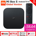 Xiaomi Mi Box S 4K TV Box Cortex-A53 Quad Core 64 bit Mali-450 1000Mbp Android 8.1 2GB+8GB HDMI2.0 2.4G/5.8G WiFi BT4.2 Latest