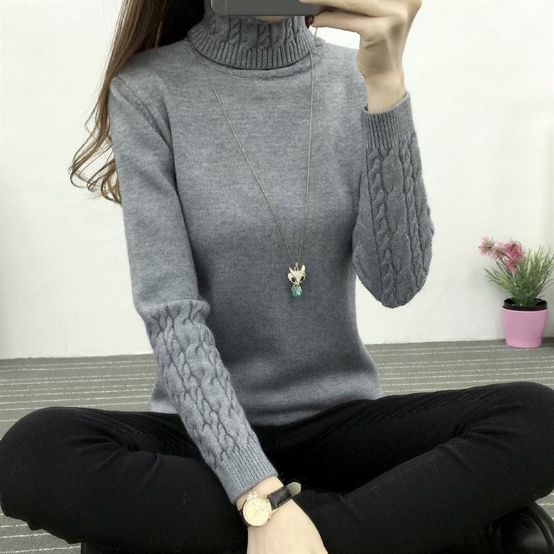 high quality Women Turtleneck Winter Sweater  1