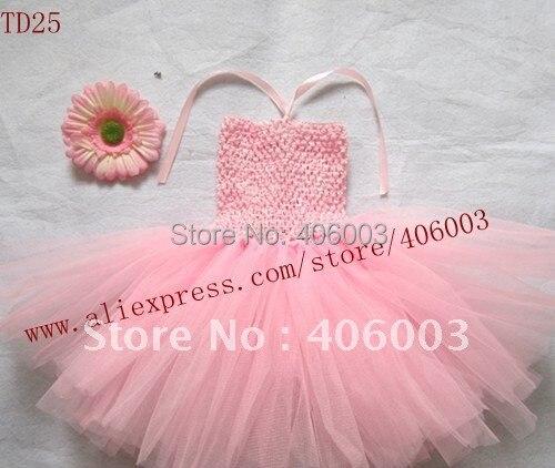 Розовое детское платье 6*6 дюймов