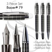Set 3 of BallPoint Pen + Fountain Pen + Rollerball Pen  BAOER 79  office and school stationery  Free Shipping
