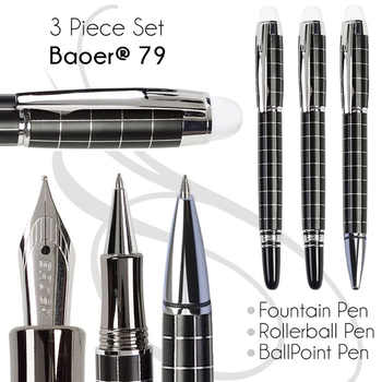 Set 3 of BallPoint Pen + Fountain Pen + Rollerball Pen BAOER 79 office and school stationery Free Shipping - SALE ITEM - Category 🛒 Office & School Supplies