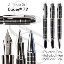 Set 3 von Kugelschreiber + Füllfederhalter + Tintenroller BAOER 79 büro und schule briefpapier Freies Verschiffen