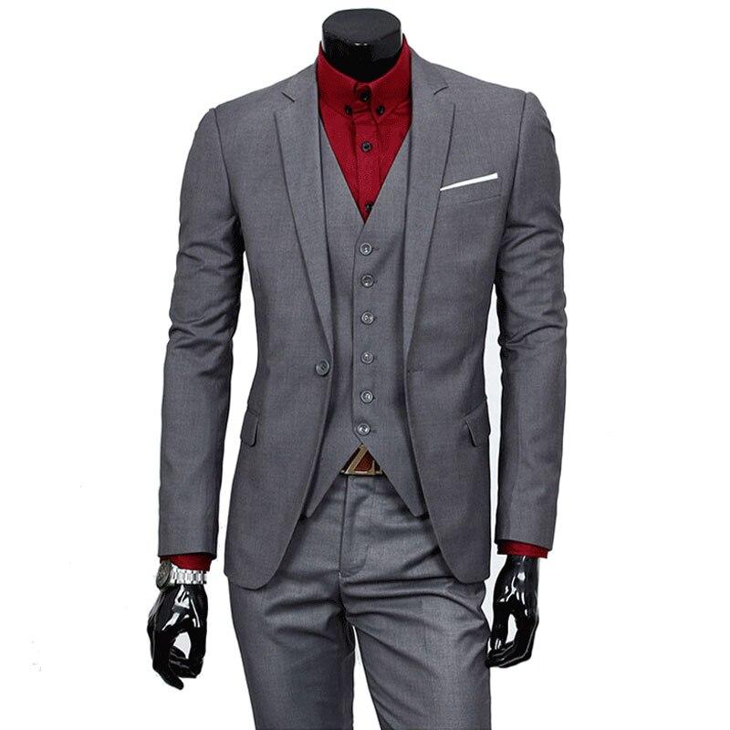 2018 Business Casual Suit Men Two Pieces Set Not Include Vest