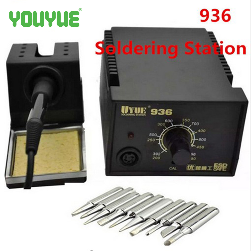 New UYUE 936 Constant Temperature 60W Electronic Soldering Iron SMD Soldering Station Digital Solder Iron+10Pcs Iron Tips automatic tin feeding machine constant temperature soldering iron teclast multi function foot soldering machine f3100a