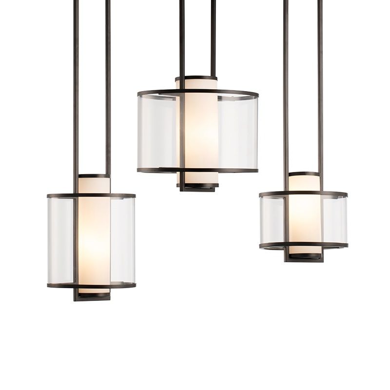Chinese Simplified acrylic glass lampshade pendant lights living room bedroom hotel hall decorative hanging lighting luminaire|Pendant Lights| |  - title=