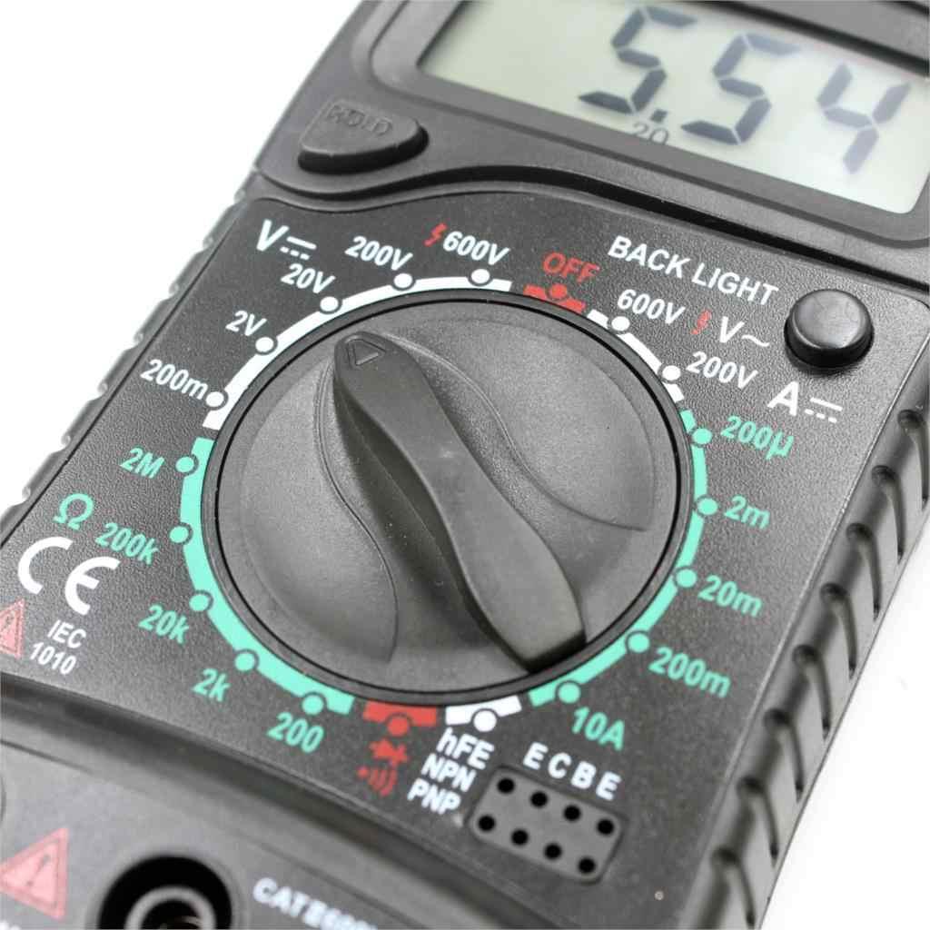 XL830L Digitale Multimeter Portable voltmeter AC/DC voltage meter DC Amperemeter weerstand tester Blauwe Achtergrondverlichting