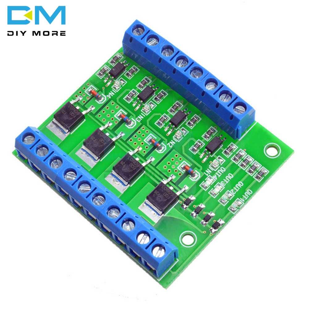 トリガスイッチモジュール 4 双方向fet mos dc制御用pwmモータポンプled O6BSベースにfetモデルF5305S plcインタフェースdiyキット