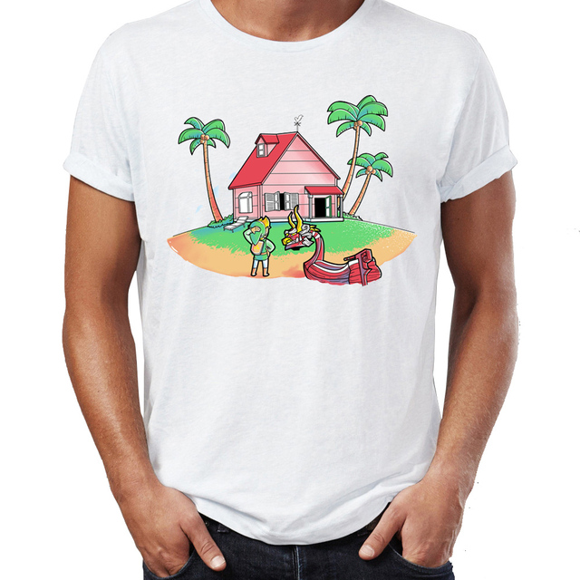 Men\'s T Shirt Link Lost Zelda Wind Waker Dragon Ball Crossover ...