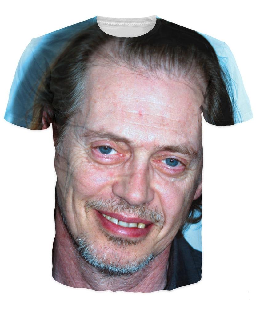 இSteve Buscemi camiseta lovable buggy ojos face 3d Print camisetas ...