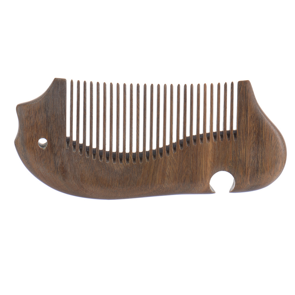 Ebony Comb Peine Natural wooden comb Fish Shape Massage Comb Healthy Hair Brush Combs For Women Scalp Health Hair Care