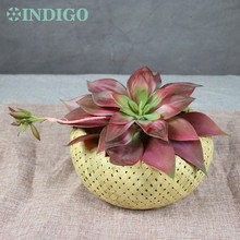 4 Colors Large Size 28cm Waterproof Lily Lotus Artificial Succulent Plant Real Touch Ourdoor Background Decoration Free Shipping