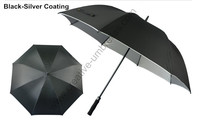 Diameter 130cm buy 3 pcs get 1 free pongee silver coating 2 times golf umbrellas.fiberglass,auto open,anti static,anti thunder