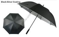 Diameter 130cm buy 3 pcs get 1 free pongee silver coating-2 times golf umbrellas.fiberglass,auto open,anti static,anti thunder