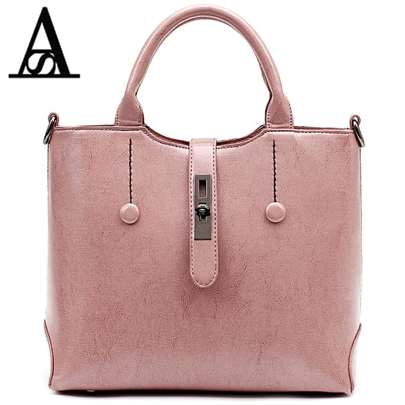 Aitesen PU leather Lock Button luxury Cross women fashion shoulder louis bag designer michael handbag bolsa feminina victor hugo