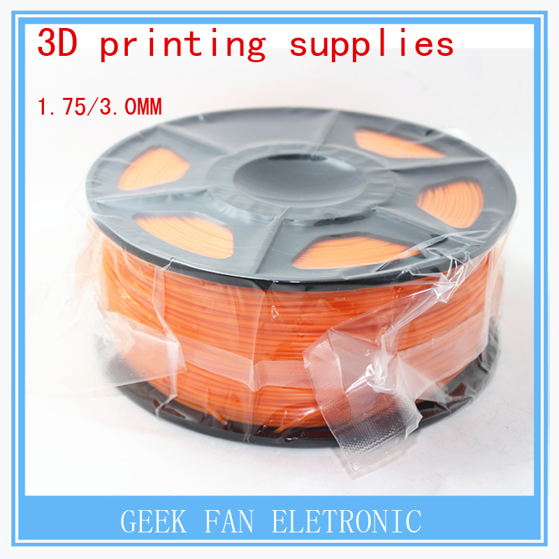 ФОТО 3d printing supplies ORANGE  color  1.75mm 3mm consumables 3d print pla three dimensional material 1kg