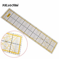 1 Pc Ruler Transparent Acrylic Material Patchwork Ruler Quilting Ruler Tool School Student Office Stationery Gifts
