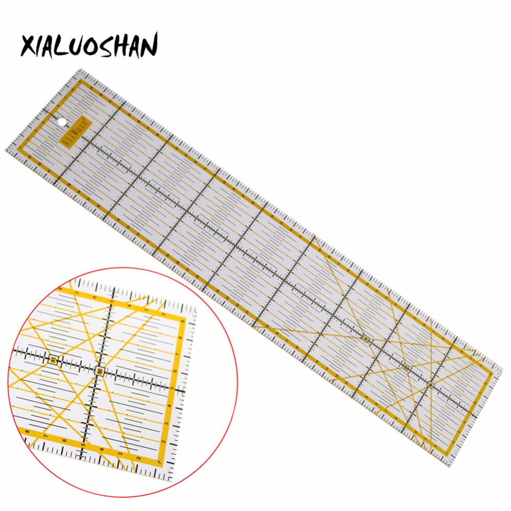 1 Pc Ruler Transparent Acrylic Material Patchwork Ruler Quilting Ruler Tool  School Student Office Stationery Gifts diy tools wavy maker ruler patchwork quilting foot professional cutting ruler seam aligned patchwork ruler free shipping