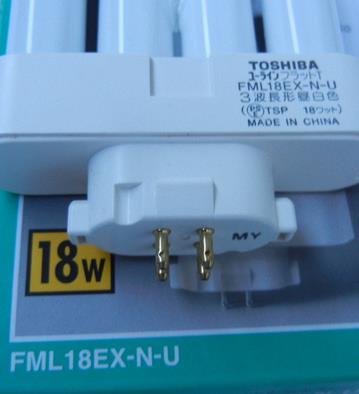 TOSHIBA HITACHI 18W FML18EX N DK CFL compact fluorescent lamp FML18EX N 2 FML 18EX N