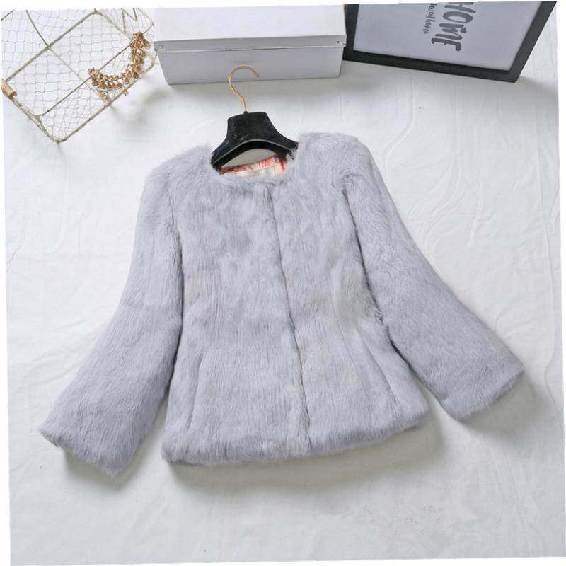 Plus size S - 6XL real rabbit fur jackets women whole skin real fur coats genuine leather fur outerwear custom make size color