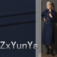 2017 new 148cm wide high quality wool fabric Duanzhuang blue tattoo thin wool autumn and winter suit dress fabric